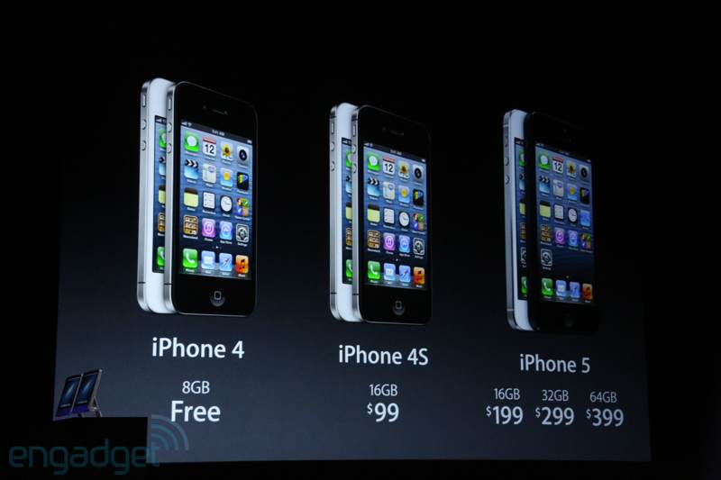 IPhone 5 To Cost 199 For 16GB 299 32GB And 399 64GB