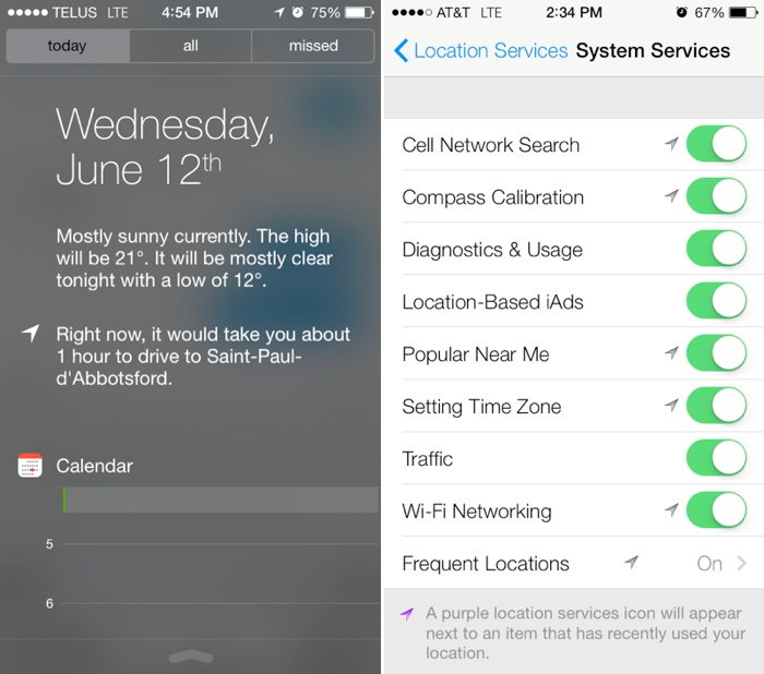 Google Now Inspired Ios 7 Notification Center With Today View